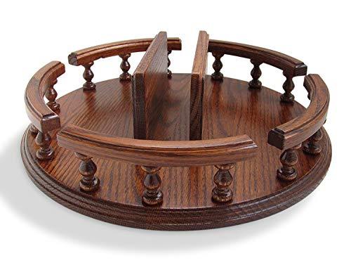 Amish hecha a mano 14\lazy susan con servilletero mesa giratoria giratorio solido de madera de roble mesa centro de mesa giratorio servidor condimento