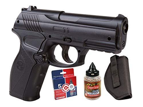 crosman c11 semi-auto air pistol co2 bb kit air...