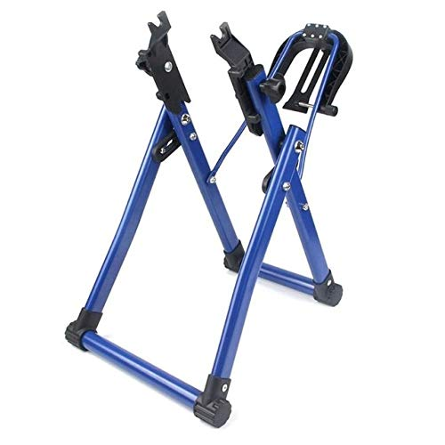 No-branded YAGMGUS Bike Repair Stand Bicycle Wheel Truing Stand Home Mechanic Truing Stand for 24-28 inch Wheel Biking Repair Tool (Color : E Blue, Size : Free)