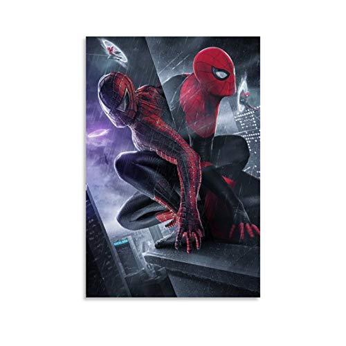 Ghychk Spider-Man – Póster de la película Pintura en lienzo moderno minimalista para sala de estar, dormitorio, listo para colgar, 40 x 60 cm