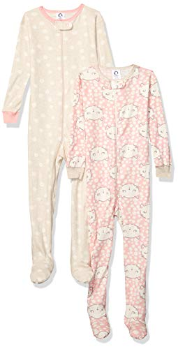 Gerber Baby Boys Organic 2 Pack Cotton Footed Unionsuit, 18 months, CAT FACES