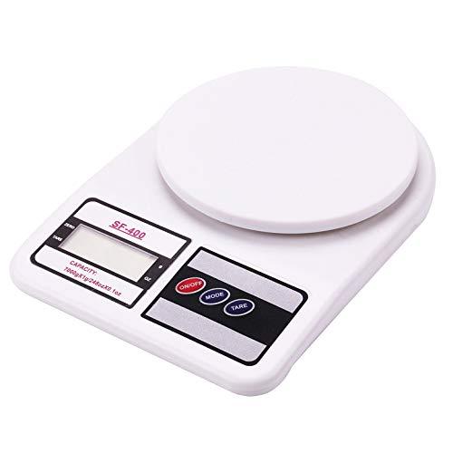 RKINC Comida Digital Balanza de cocina Peso (Gm, Oz, LB & KG) Pantalla grande con capacidad de hasta 22 lb para hornear y cocinar, Plataforma de plástico ABS