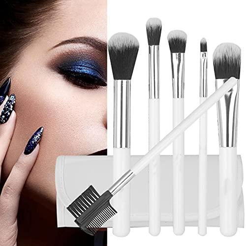 Juego de brochas de maquillaje, 6 piezas de base de sombra de ojos Blush Lip Shadow Brush Brocha de sombra de ojos Kit de herramientas de maquillaje para principiantes y uso profesional(#1)