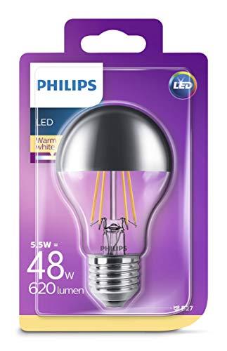 Philips LED Lampe ersetzt 48W, EEK  A++, E27, warmweiß (2700 Kelvin), 620 Lumen, klar, Kopfspiegellampe