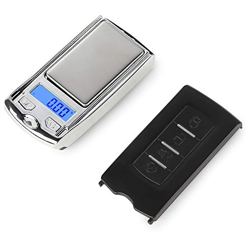 Ruby569y Balance numérique professionnelle - 100 g/0,01 g - Mini balance électronique portable pour bijoux - Porte-clés de voiture