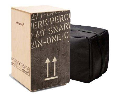 Schlagwerk 2inOne CP404 large Black Edition Cajon Holz Trommel Set inklusive Tasche