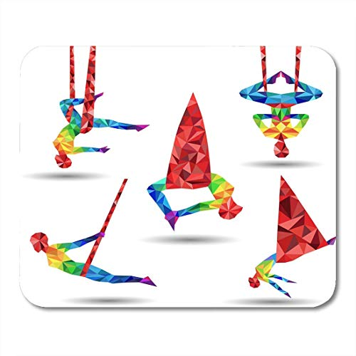 Mouse pads activity action aerial yoga anti gravity aero of triangles mouse pad for notebooks, Desktop computers mats office supplies
