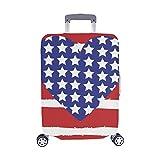 (Solo Cubrir) Tarjeta del Día de los Veteranos Corazón de los Eeuu Bandera Bandera Maleta de Viaje Protector de...