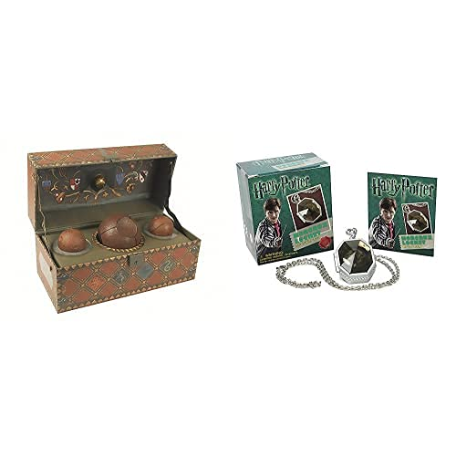 Running Press Harry Potter. Collectible Quidditch Set + Locket Horcrux Kit And Sticker Book