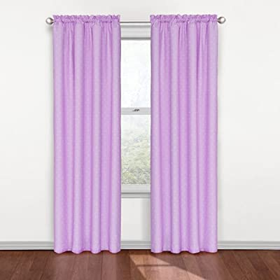 ECLIPSE Kids Curtains for Bedroom - Polka Dots Blackout Rod Pocket Single Panel Window Treatment Privacy Curtain Nursery
