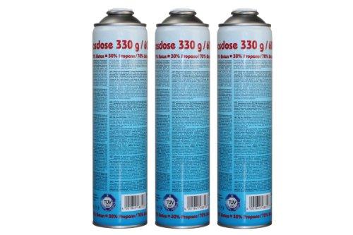 CFH Druckgasdose 330g / 600ml - EN 417 - 3 Stück