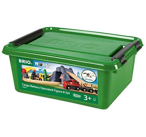 BRIO 33983 33983-Bahn Acht Tunnel Set mit Batterielok
