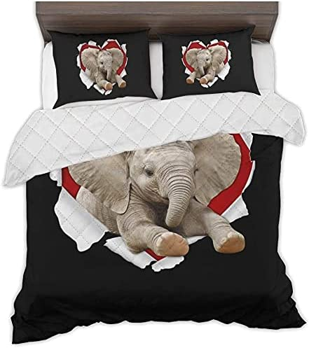 Kantee outlet Elephant Heart Tear Quilt Bed B Funny Set Ranking TOP8 Comfy