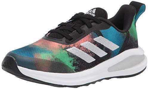 adidas unisex child Fortarun Running Shoe, Core Black/White, 13 Little Kid US