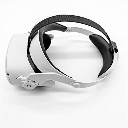 JJWA Correa Halo para auriculares Oculus Quest 2 VR, reduce la presión de la cabeza ajustable, almohadilla para la cabeza, ligera, cómoda y accesorios de realidad virtual (para oculus quest 2) (Electrónica)