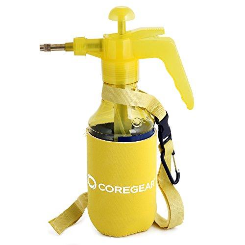 COREGEAR USA Misters 1 Liter Ultra Cool JR Pump Mister amp Sprayer with Insulated Neoprene Cool Sleeve Yellow
