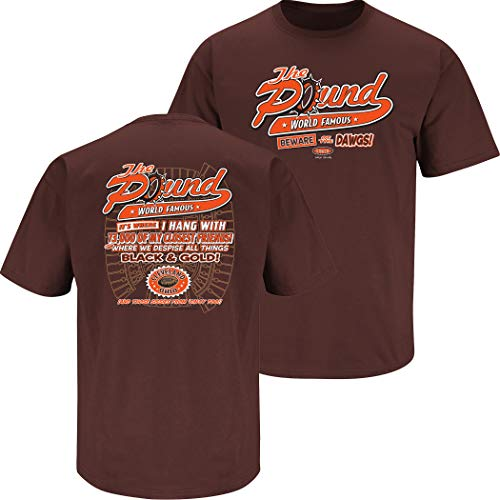 Smack Apparel Cleveland Football Fans. The Pound Brown T-Shirt (S-5x) (Short Sleeve, 2XL)