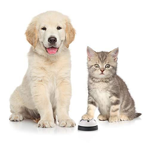 Camidy - Campana de entrenamiento para mascotas para perros y gatos, 2 unidades, para entrenamiento de inodoro, para entrenamiento interactivo de cena