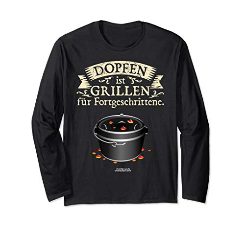 Dutch Oven Dopfen vs. Grillen | das Original Dutch Oven Langarmshirt