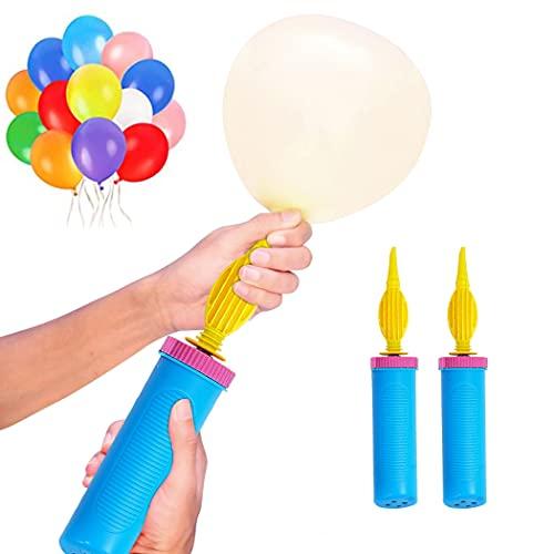 Normout Luftballonpumpe 2x Ballonpumpe - Luftballon Pumpe - Robustes Design, leicht & kompakt- Luftballon pumpe Ballons, Luftpumpe Luftballons, Pumpe Luftballon, balloon pump, Ballonpumpe Luftballons