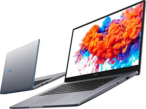 HONOR MagicBook 15 Laptop, 39cm (15,6 Zoll), Full HD IPS, 256 GB PCIe SSD, 8 GB RAM, AMD Ryzen 5 3500U, Fingerabdrucksensor, Windows 10 Home - Space Grey