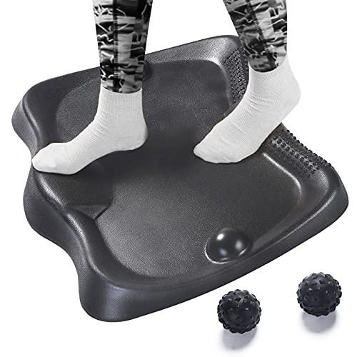 Standing Desk Mat, Anti Fatigue Standing Mat with 2 Massage Balls Ergonomic Mat for Office,Home(Large Standing Floor Mat, 22.4inch27inch)