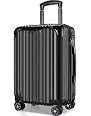 VARNIC スーツケース キャリーバッグ キャリーケース 機内持込 超軽量 大型 静音 ダブルキャスター 耐衝撃 360度回転 TSAローク搭載 ファスナー式 旅行 ビジネス 出張