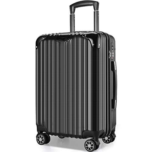 VARNIC Suitcase, Carrying Bag, Carrying Case, Carry-on Bag, Ultra Lightweight, Large, Quiet, Double Caster, Shockproof, 360° Rotation, Equipped with TSA Closure, Zippered, Travel, Business, Business Trips, Popular Colors