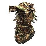 Juego de 2 sombreros de camuflaje con máscara de cara completa 3D, gorra ajustable de camuflaje para airsoft, caza de pavo, observación de aves táctica y fotografía de vida silvestre