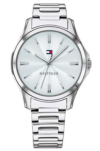 Tommy Hilfiger Damen Analog Quarz Uhr mit Edelstahl Armband 1781949