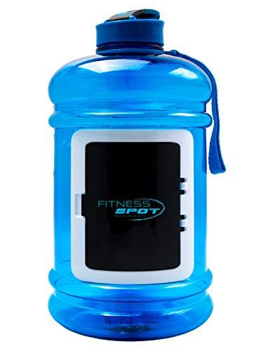Premium Water Jug | Trinkflasche 2,2 Blau | Blender Bottle | BPA-Frei | Wasserflasche 2,2l | Gym Bottle | Hochwertige Sporttrinkflasche für Krafttraining, Fitness & Bodybuilding