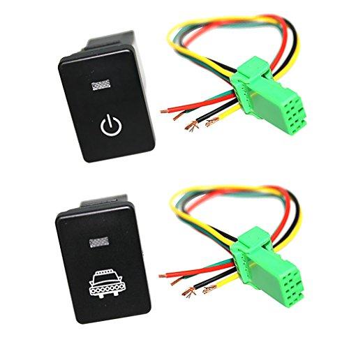 B Blesiya Interruptor de Botón LED con Kit de Cable Conector para - Faros Y Energía
