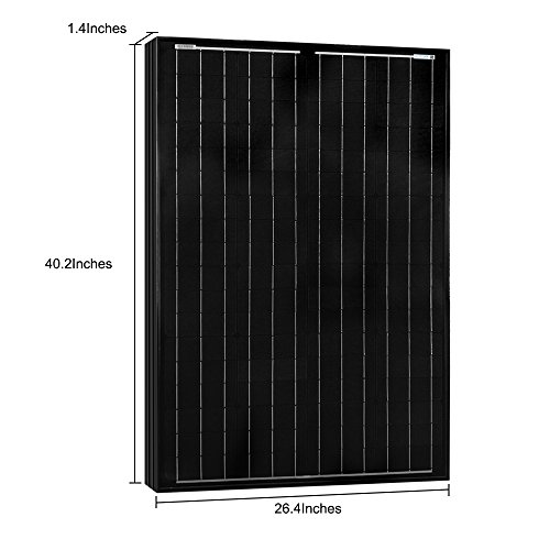 ACOPOWER 100w Solar Panel, All Black 100 Watts 12v Volts Monocrystalline PV Panel Module with MC4 Connector for Battery Charging, Boat, Caravan, RV and Any Other Off Grid Applications