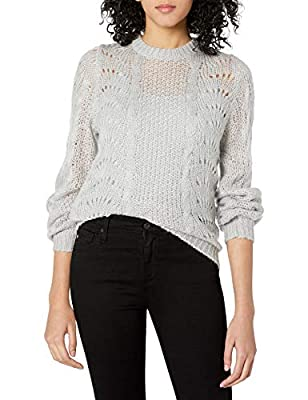 Jessica Simpson Women's Plus Size Hazel Stylish Pointelle Pullover Sweater, Light Heather Grey, 2X from Jessica Simpson