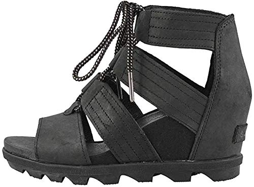 Sorel Women's Joanie II Lace Casual Wedge Sandal Black 8.5 Medium US