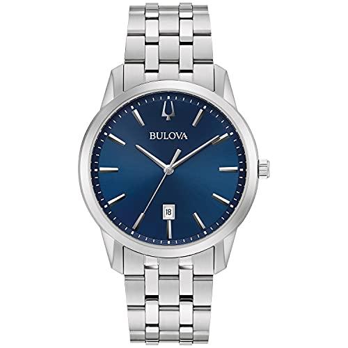 Bulova 96B338 Men's Sutton Blue Dial Silver Tone Bracelet Watch