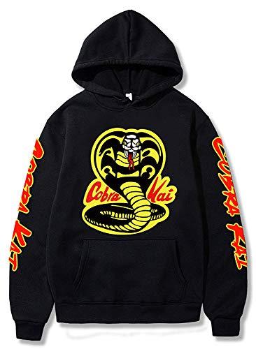 Yanny Karate Dojo Cosplay Hoodie Cobra Sweatshirt Kai Cosplay Kostüm 3D Print Kapuzenpullover Sweater Jacke (L, Schwarz 1)