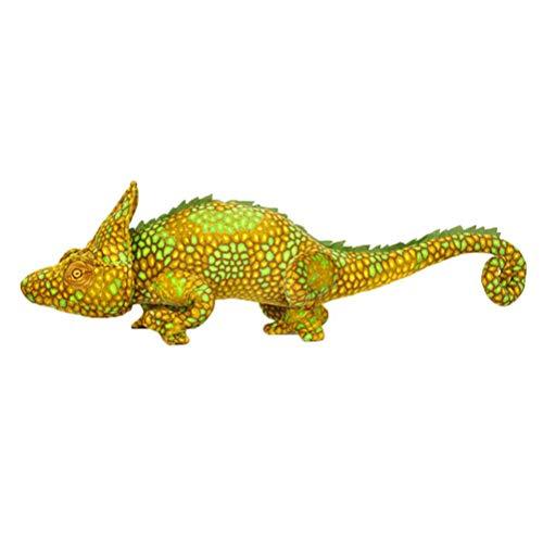 Neborn 80 cm simulación Creativa Dinosaurio Juguetes de Peluche Suave Almohada de Dibujos Animados camaleón muñeca de Peluche para niños niñas niños Regalo de cumpleaños