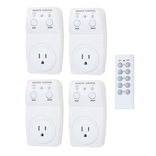X-Dr 4 pcs Control remoto remoto eléctrico y tomacorriente/Toma de corriente eléctrica inalámbrica para interiores Lámparas de luz para el hogar Electrodomésticos (e0d8d8c0c318eab5a0ac809fb726d0f2)