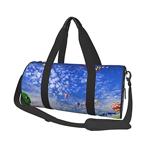 MBNGDDS Bolsa de viaje colorida con globo de aire caliente, ligera, plegable, impermeable, con correa para el hombro, bolsa de gimnasio para hombres y mujeres, ver imagen, Talla única,