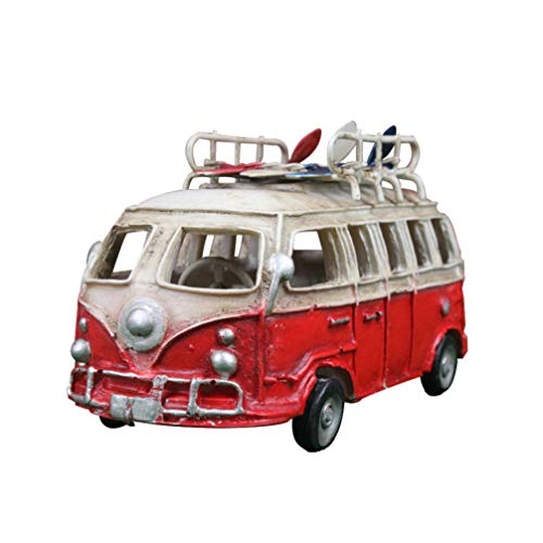 Garneck Resin Truck Vintage Car Model Antique Collectible Bus Vehicle for Bar Home Office Table Decoration Ornaments