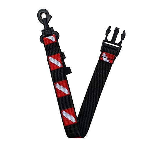 F Fityle Cordón para Cinturón de Equipamientos de Buceo Ligero y Portátil de Bandera Bravo - Negro + Rojo, HY16