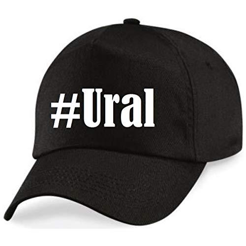 Reifen-Markt Base Cap Hashtag #Ural Größe Uni Farbe Schwarz Druck Weiss