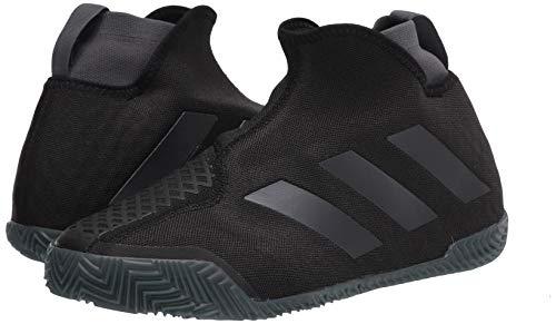 adidas Women's Stycon Laceless Clay Court Tennis Shoe, core Black/Night Met./Grey Six, 8 M US