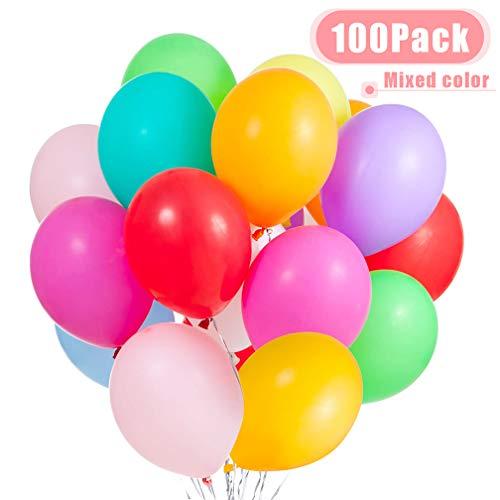 JOJOR Luftballons Bunt,100 Bunte Ballons Latex Helium,Luftballons 30cm für Kinder Geburtstag,Hochzeit Stäbe Party Gartenparty Sommerfest Halloween Weihnachten Geburtstags Party Hochzeits