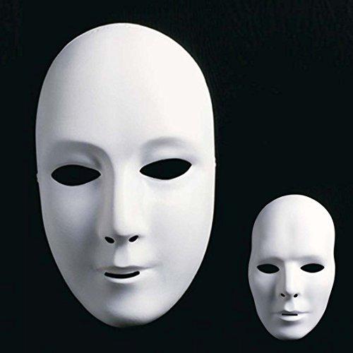 Amakando Neutrale Phantom Maske Opernmaske Frauengesicht Maske Weiße Unbemalte Frauenmaske Faschingsmaske Karnevalsmaske Ballmaske