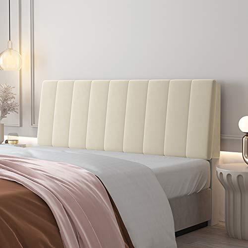 Copertura antipolvere per la testata del letto di velluto per la camera da letto per la camera da letto, il supporto del posizionamento della lettura dello schienale della lettura del cuscino del cune