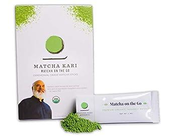 Dr Weil Matcha Kari Superior Japanese Matcha Green Tea Sticks - Ceremonial Grade - 1.5 Gram Individual Matcha Sticks  12 Sticks
