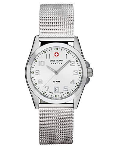 Swiss Military Hanowa Tomax Lady 06-6030.04.001 - Reloj de pulsera para mujer con correa milanesa de acero inoxidable, 29 mm, fecha