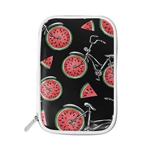 Reißverschluss groß Make-up Kosmetikstift Bleistift Briefpapier Aufbewahrungsbeutel Tasche Fall Fahrrad Muster Wassermelone Frucht